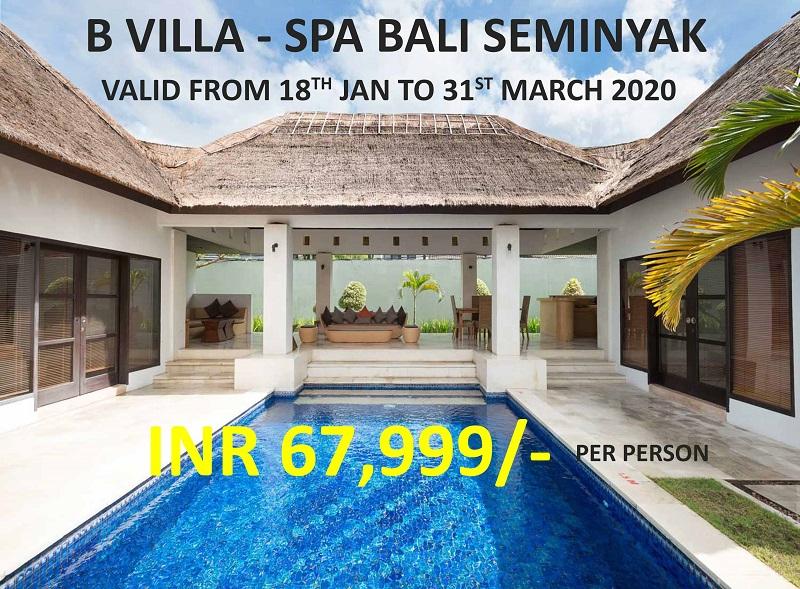 B Villa-Spa Bali Package( 5 Nights )