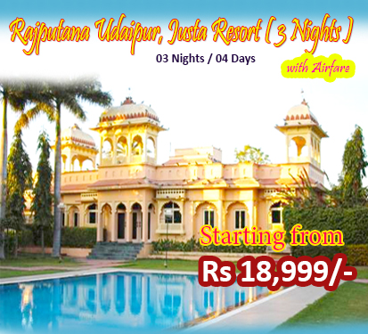Rajputana Udaipur, Justa Resort ( 3 Nights )