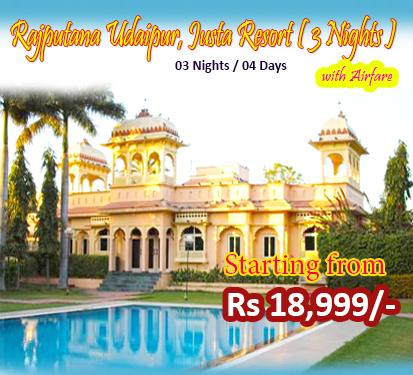 Rajputana Udaipur, Justa Resort ( 3 Nights )
