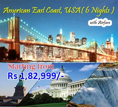 American East Coast, USA( 6 Nights )